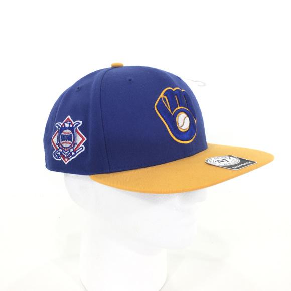 a6a1546419709 Milwaukee Brewers Snapback Hat. NWT.  47 Brand